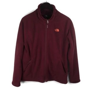 The North Face Womens Large Fleece Jacket Purple